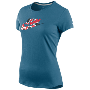 Nike Country Run T-Shirt - Women's - Shaded Blue/Reflective Silver