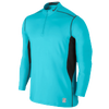 Nike Pro Combat Hyperwarm DF Max Fttd 1/4 Zip - Men's - Light Blue / Black