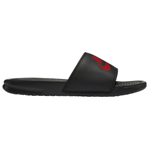 Nike Benassi JDI Slide - Men's - Black/Challenge Red