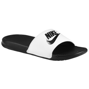 Nike Benassi JDI Slide - Men's - White/Black