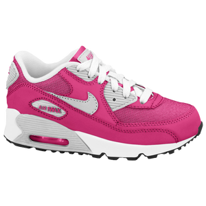 Nike Air Max 90 2007 - Girls' Preschool - Vivid Pink/Pure Platinum/White/Metallic Silver