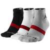 Jordan Dri-Fit Low Quarter 3 Pack Socks - Black / White