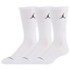 Jordan Dri-Fit Crew Sock 3 Pack - White / Red