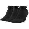 Nike 3 Pack Moisture MGT Cushion Low Cut Socks - Men's - Black / Black