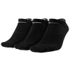 Nike 3 Pack Moisture MGT Cushion No Show Socks - Men's - All Black / Black
