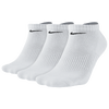 Nike 3 Pack Moisture MGT Cushion No Show Socks - Men's - All White / White