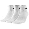 Nike 3 Pack Moisture MGT Cushion Quarter Sock - Men's - All White / White