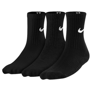 Nike 3 Pack Mositure MGT Cushion Crew Sock - Boys' Grade School - Black/White
