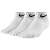 Nike 3 Pack Moisture MGT Cushion Low Cut Socks - Boys' Grade School - All White / White