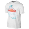 Jordan Retro 5 Fire N' Ice T-Shirt - Men's - White / Light Blue