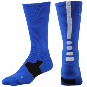 Nike Hyper Elite Basketball Crew Socks - Men's - Game Royal/White