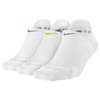 Nike 3 Pack Dri-Fit Cush No Show Socks - Women's - White / Grey