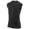 Nike Pro Combat Core Ftted 2.0 SLVLS T-Shirt - Men's - All Black / Black