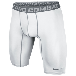 "Nike Pro Combat Compression 9"" Short 2.0 - Men's - White/Cool Grey"