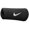 Nike Swoosh Doublewide Wristbands - Men's - All Black / Black