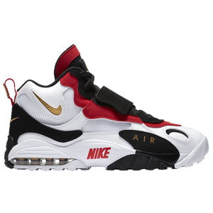 Nike Air Max Speed Turf - Men's - White/Black/Gym Red/Metallic Gold