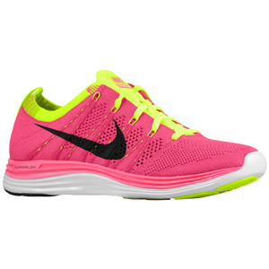Nike Flyknit Lunar 1 + - Women's - Pink Flash/Black/Fireberry/Volt