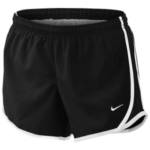Nike Tempo Shorts - Girls' Grade School - Black/Black/White/White