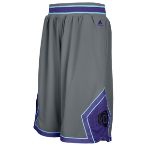 adidas Rose Bulls Short - Men's - Tech Grey/Dark Purple/Satellite