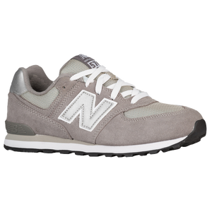 New Balance 574 - Boys' Grade School - Grey/Silver