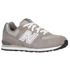New Balance 574 Suede - Boys' Grade School - Grey / Grey