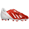 adidas F10 Messi TRX FG - Boys' Grade School - Red / White