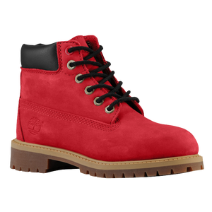 "Timberland 6"" Premium Waterproof Boot - Boys' Preschool - Red Nubuck"