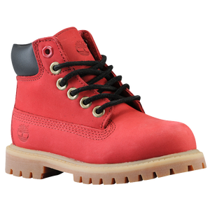 "Timberland 6"" Premium Waterproof Boot - Boys' Toddler - Red Nubuck"