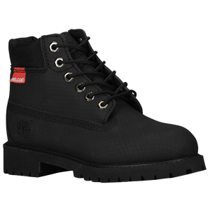 "Timberland 6"" Premium Waterproof Boot - Boys' Grade School - Black Rebar"