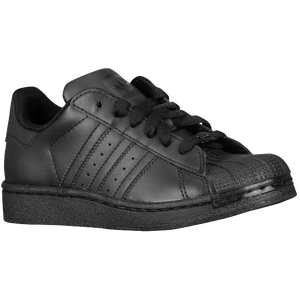 adidas Originals Superstar 2 - Boys' Preschool - Black/Black/Black