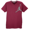 Jordan Graphic Jumpy V-Neck T-Shirt - Men's - Maroon / Off-White