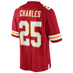 Nike NFL Limited Jersey - Men's - Charles, Jamaal - Kansas City Chiefs - University Red