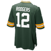 Nike NFL Game Day Jersey - Men's -  Aaron Rodgers - Green Bay Packers - Dark Green / Gold