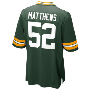 Nike NFL Game Day Jersey - Men's - Matthews, Clay - Green Bay Packers - Fir