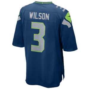 Nike NFL Game Day Jersey - Men's - Wilson, Russell - Seattle Seahawks - Marine