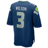 Nike NFL Game Day Jersey - Men's -  Russell Wilson - Seattle Seahawks - Navy / Grey