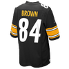 Nike NFL Game Day Jersey - Men's -  Antonio Brown - Pittsburgh Steelers - Black / White