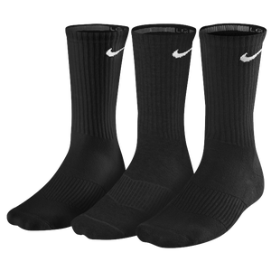 Nike 3 Pack Moisture MGT Cushion Crew Sock - Men's - Black/White