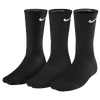 Nike 3 Pack Moisture MGT Cushion Crew Sock - Men's - Black / Black