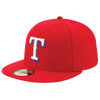 New Era MLB 59Fifty Authentic Cap - Men's - Texas Rangers - Red / White