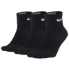 Nike 3 Pack Moisture MGT Cushion Quarter Socks - Men's - Black / Black