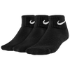 Nike 3 Pack Moisture MGT Cushion Quarter Sock - Boys' Grade School - All Black / Black