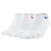 Nike 3 Pack Cotton Cush Low Cut w/ Moisture - Women's - White / Multicolor