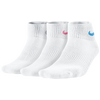 Nike 3 Pack Cotton Cush Quarter w/ Moisture - Women's - White / Multicolor