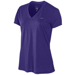 Nike S/S Legend V T-Shirt - Women's - Club Purple/Cool Grey