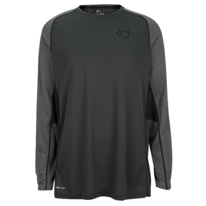 Nike KD Precision Moves Long Sleeve - Men's - Anthracite/Charcoal Heather/Black