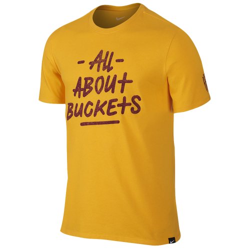 Nike kyrie all about buckets t shirt men 39 s basketball for Bucket squad gold shirt