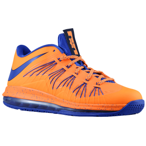 Nike Air Max LeBron X Low - Men's - Bright Citrus/Blackened Blue/White/Hyper Blue