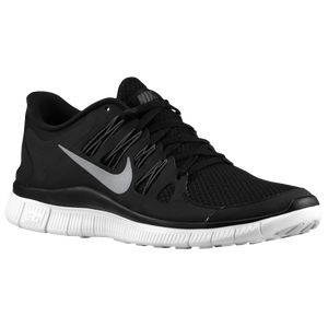 Nike Free 5.0+ - Women's - Black/Dark Grey/White/Metallic Silver
