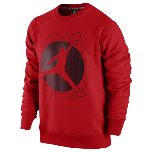 Jordan Flight Club Graphic Crew - Men's - Gym Red/Black